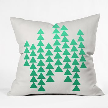 Holli Zollinger Emerald Arrowing Throw Pillow