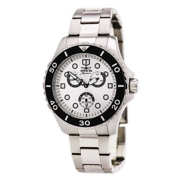 Invicta 7051 Men's Signature II Silver Dial Steel Bracelet Quartz Watch