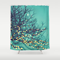 twinkle lights Shower Curtain by Sylvia Cook Photography