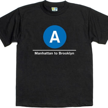 "A Train T-Shirt ""NYC SUBWAY LINE"""