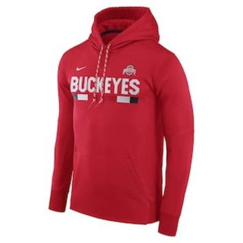 ONETOW Men's Nike Ohio State Buckeyes Therma-FIT Hoodie | null