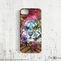 iPhone 5 case - iPhone 4 case, iPhone 4s case, High quality 3D printing, Gift wrapping, artwork - digital art with tiger (c125)