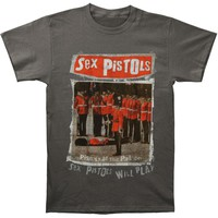 Sex Pistols Men's  Pistols At The Palace T-shirt Charcoal