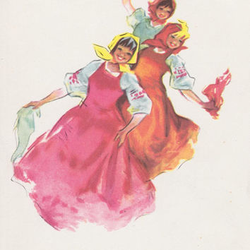 Written on (!) Vintage Congratulations, Greeting Card by R. Dostyan -- 1962