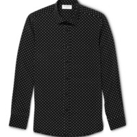 Saint Laurent - Slim-Fit Star-Print Silk Shirt | MR PORTER