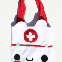 Nurse Cat Bag - Kawaii Tote Bag, Cute Schoolbag