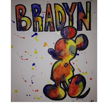 Custom Personalized Made to Order Baby and Childs Name Painting