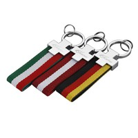 Auto Sport Metal+Cloth Italy Flag Germany Flag Car Key Ring Keychain For BMW Ford Volkswagen Mazda Skoda Kia Mercedes Audi