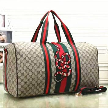 Gucci Fashion Women Embroidery Leather  large Capacity Luggage Travel Bags Tote Handbag G-LLBPFSH