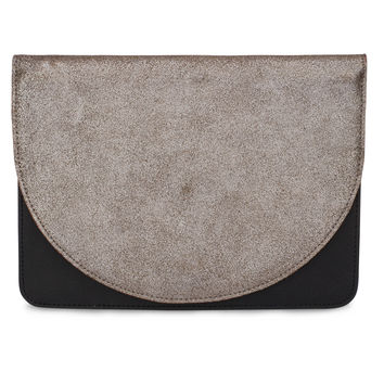 LUNA   large half moon clutch
