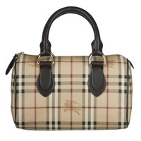 Burberry Small Haymarket Bowling Bag