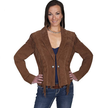 Scully Womens Cinnamon Boar Suede Jacket