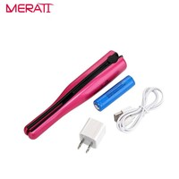 2017 Hair Curler 2 in 1 Hair Straightening Iron Ceramic Travel Hair Straightener Mini Flat Iron Portable USB Charge Wireless
