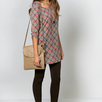 Taupe Vintage Vision Shift Dress