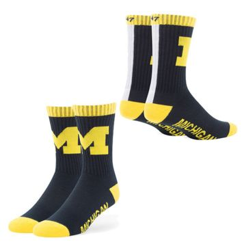 Michigan Wolverines Duster Sport Socks