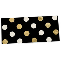 "KESS Original ""Golden Dots"" Black Gold Desk Mat"