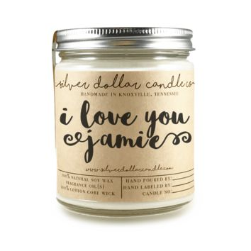 """""""I Love You"""" - 8oz Scented Candle"""
