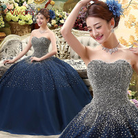 Vestido Debutante Luxurious Royal Blue Quinceanera Dresses Ball Gowns Sweet 16 Dresses Masquerade Ball Gowns Vestidos De 15 Anos