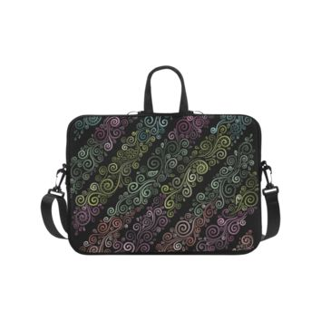 Personalized Laptop Shoulder Bag Psychedelic Pastel Handbags 17 Inch