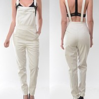 Faux Leather Overalls from ShopWunderlust