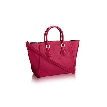 DCK4S2 Authentic Louis Vuitton Epi Leather Phenix PM Bag Tote Handbag Article: M50802 Fuchsia Made in Italy