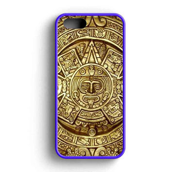 Aztec Mayan Calendar Gold  iPhone 5 Case iPhone 5s Case iPhone 5c Case