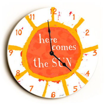 Here Comes The Sun Unique Wall Clock by Artist Lisa Weedn