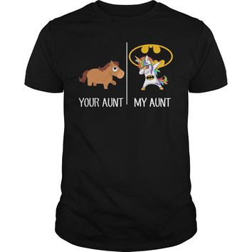 Your aunt and my aunt unicorn shirt Premium Fitted Guys Tee
