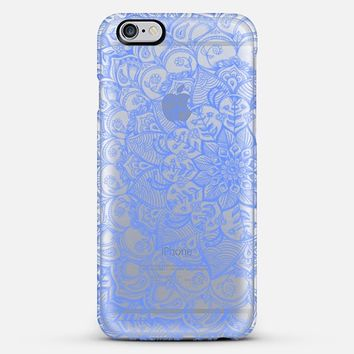 Cornflower Blue Transparent Lace iPhone 5s case by Micklyn Le Feuvre   Casetify