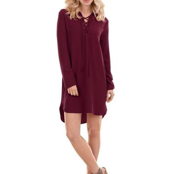Kinsley Lace-Up Dress