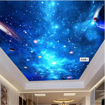 Custom Mural Wallpaper-3D Dream Starry Sky Ceiling Mural Photo Wallpaper For Walls Papel De Parede 3D Wall Papers Home Decor