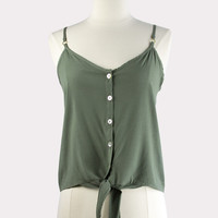 Sage Button Up Cami