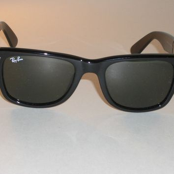 RAY BAN RB2113 901 50[]19MM SHINY BLACK G15 UV GLASS FLEX WAYFARER SUNGLASSES