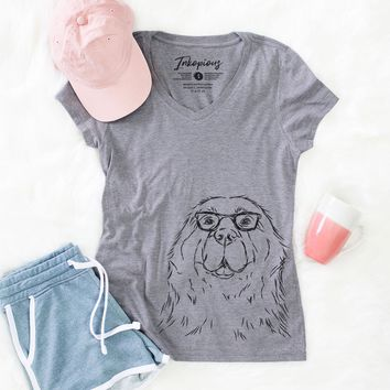 Boomer the Newfoundland - Women's Relaxed Fit V-neck Shirt