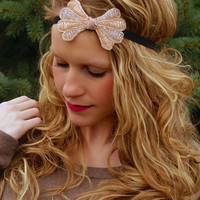 Wrap Me Up Headband: Gold