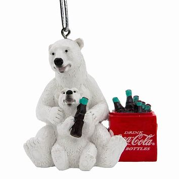 Authentic Coca-Cola Coke Polar Bear Cub Cooler Christmas Ornament New with Tags