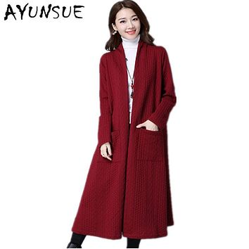 Vintage Wine Red Especially Female Trench Coat Para As Mulheres Long Coat Female Spring Autumn Plus Size Cardigan Abrigo FYY263