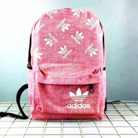 """Adidas"" Casual Sport Laptop Bag Shoulder School Bag Backpack Print Pink B-PSXY"