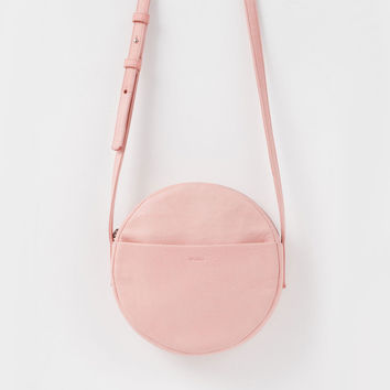 Leather Circle Purse Pastel