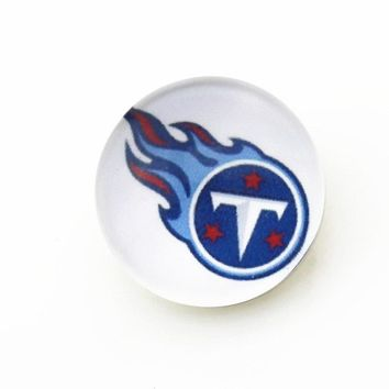 20pcs 18mm Tennessee titans USA Football Snap Buttons Charms Fit Snap Bracelet/Necklace DIY Jewelry