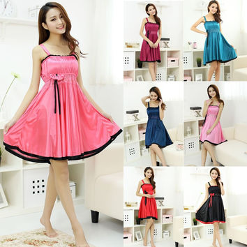 summer Sexy Lingerie Intimates silk Dress gowns Women Sexy Underwear Nightgowns Sleepwear Women's Sleep & Lounge Sleepshirts