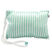 Mint Waterproof Beach Pillow - Mint Stripe
