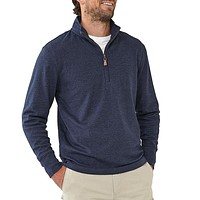Puremeso Quarter Zip Pullover in Navy by The Normal Brand - FINAL SALE