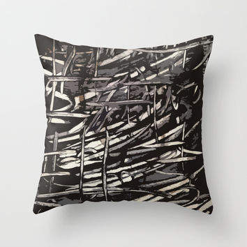 Chaotic Lines Throw Pillow by Traci Maturo Illustrations