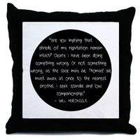 Will Herondale Quote Throw Pillow by geeitserica