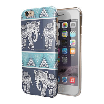 Walking Sacred Elephant Pattern 2-Piece Hybrid INK-Fuzed Case for the iPhone 6/6s or 6/6s Plus