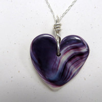 Wampum Heart Necklace Handmade Shell Jewelry