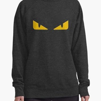 Fendi monster eye charcoal WOMEN SWEAT SHIRT