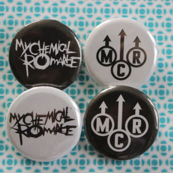 My Chemical Romance Logo Pin Button Badges 3cm diameter