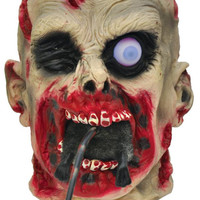 Zombie Head Eating Rat 9 Inch